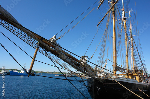 Photo Stands Rotterdam Old vintage wooden sail boat