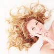canvas print picture - schöne blonde Haare