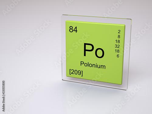 Fotografia  Polonium - symbol Po - chemical element of the periodic table