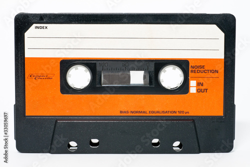 Fotomural Cassette tape isolated on a white background