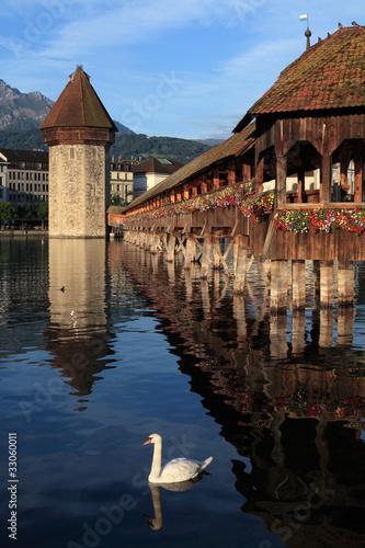 Photographie  Lucerne Chapel bridge en Suisse