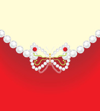 Decorative Butterfly On The Background For Jewelry Design