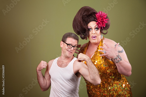Photo  Man With Drag Queen
