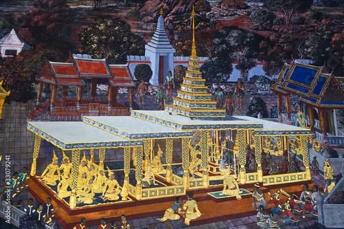 Canvas Prints Illustration Paris Thai painting