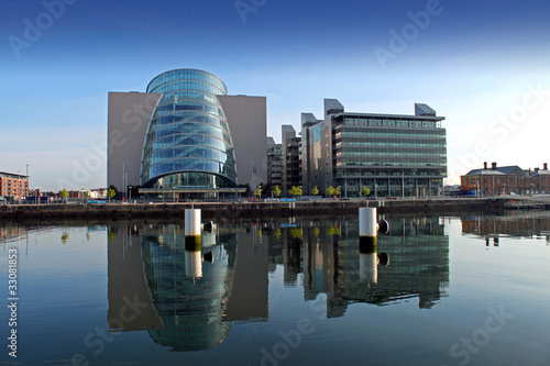 Fotografia, Obraz  Buildings At North Wall Quay Dublin
