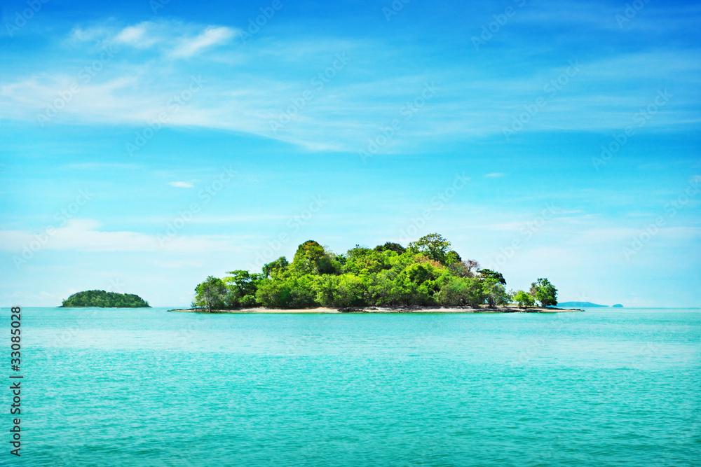 Foto Rollo Basic - Tropical island