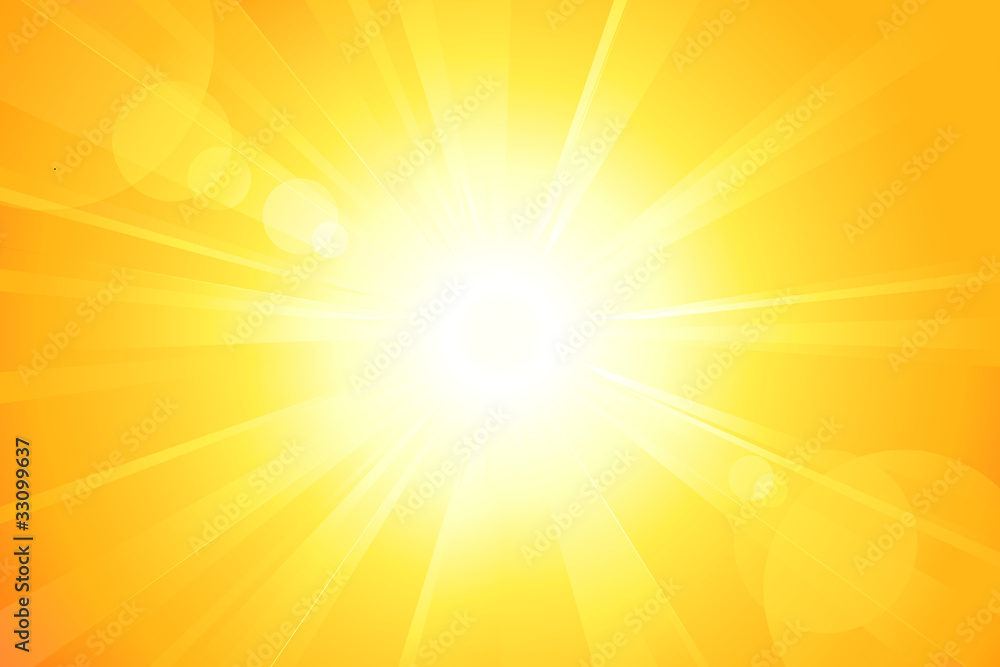 Fototapety, obrazy: Bright vector sun with lens flare