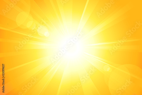 Cuadros en Lienzo  Bright vector sun with lens flare