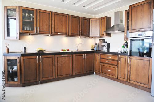 Foto op Plexiglas Trappen modern kitchen interior design in new home