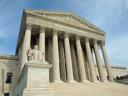The United States Supreme Court in Washington DC Poster