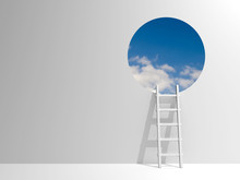 Ladder Leading To Sky
