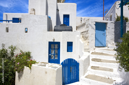 Photo grèce; cyclades; amorgos : village de thoralia
