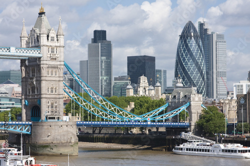 Foto op Canvas Londen Tower Bridge and the Gherkin