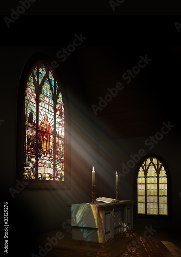 Fotografie, Obraz Church Interior