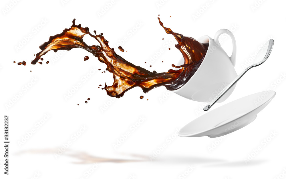 Fototapeta coffee splash