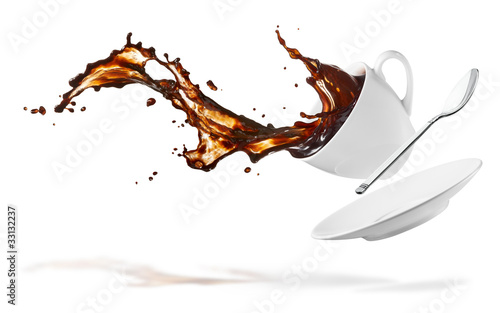 Stampa su Tela  coffee splash