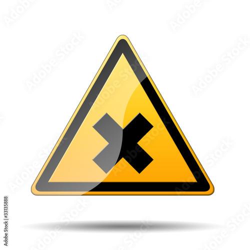 Fotografie, Obraz  Señal amarilla peligro producto irritante