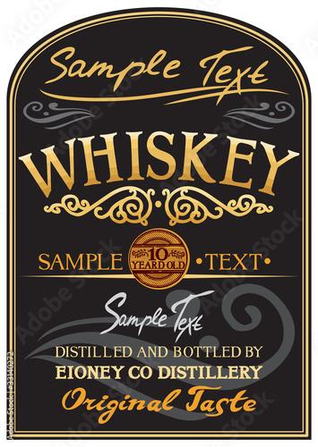 Fototapety, obrazy: whiskey label