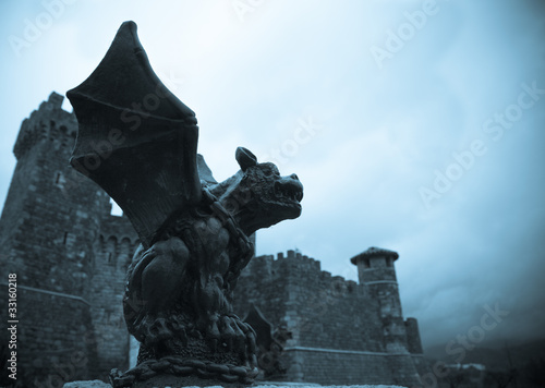 Fototapeta Gothic Gargoyle