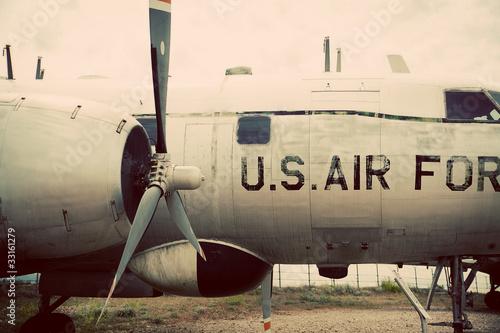 Photo U.S. Air Force Vintage Plane