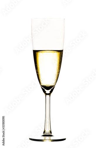 Photographie  Champagner freigestellt