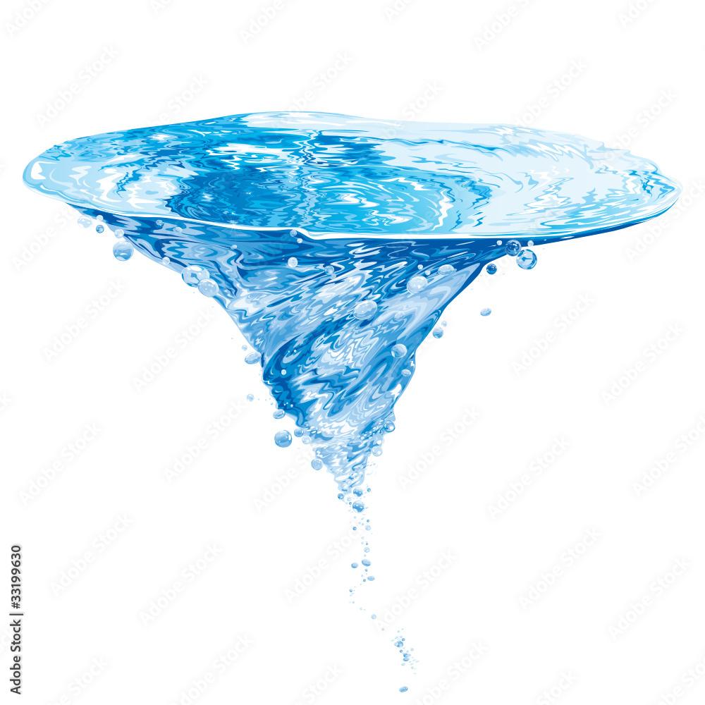 Fototapeta Water Vortex Illustration