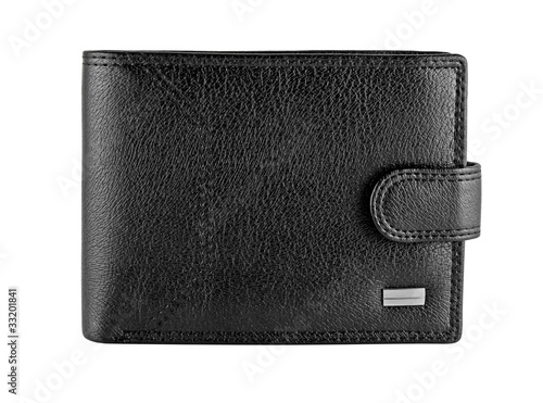 Fotografía  Black leather wallet