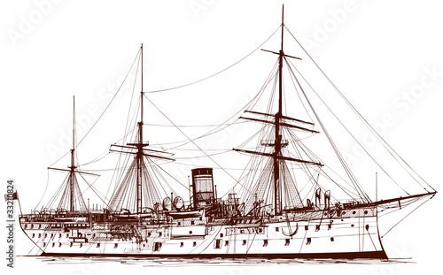 Photo Old  battleship