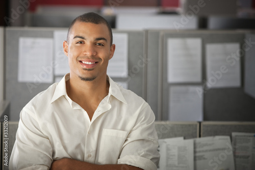 Photo  Confident Office Worker