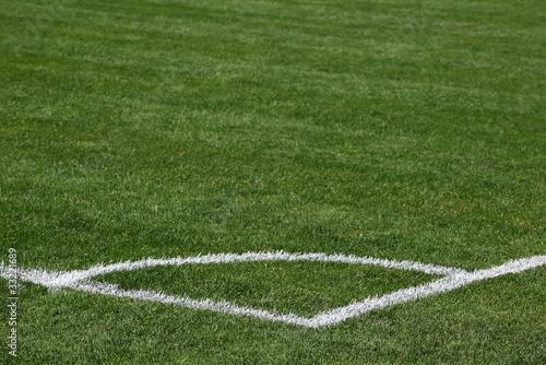 Fotografie, Obraz  Corner of soccer pitch detail