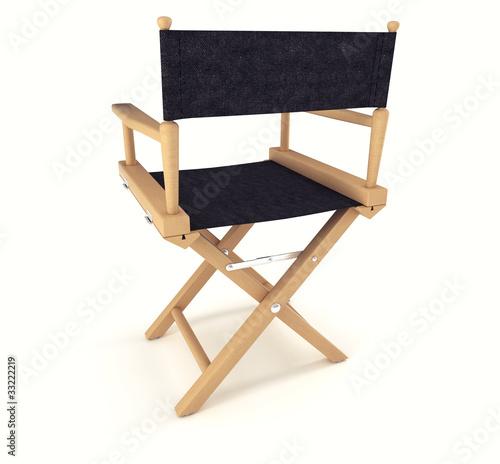 Fotografie, Obraz  Flim industry: back view of directors chair