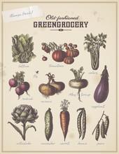 Vintage Greengrocer's Placard ...