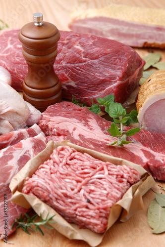 Fotografía  Various meats