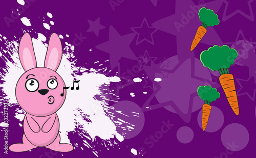 Bunny Cartoon Sing Background Buy This Stock Vector And Explore Similar Vectors At Adobe Stock Adobe Stock