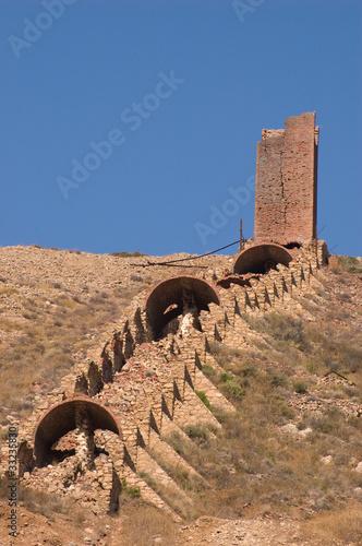 Fotografie, Obraz  Sardinia, Italy: Monteponi old mine near Iglesias