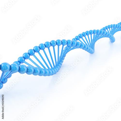 Spoed Fotobehang Spiraal DNA strands on a white background