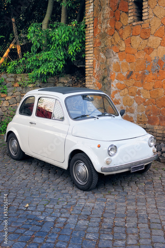 Deurstickers Oude auto s Funny Car