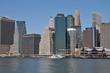 Lower Manhattan Skyline & East river.