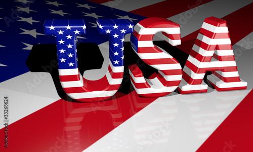 Fototapeta USA 3D