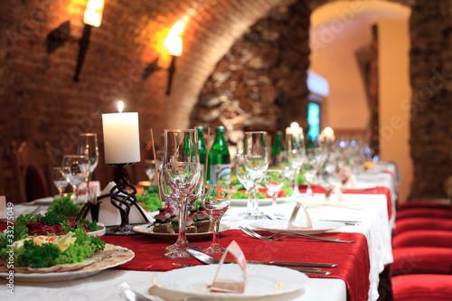 Fotobehang Restaurant Restourant's table