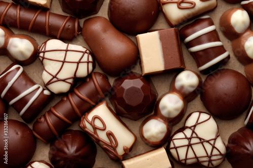 Foto op Aluminium Snoepjes chocolate sweets