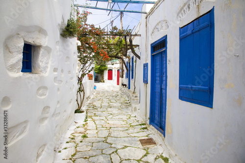 Photo grèce; cyclades; amorgos : village de chora