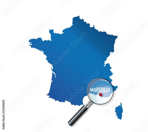 carte de france marseille Marseille: carte de France   département des Bouches du Rhône