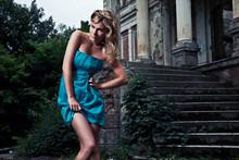 Vogue Style Portrait Of Beauti...