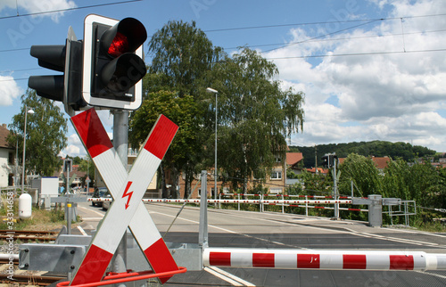 Bahnübergang mit Rotlich II Canvas-taulu