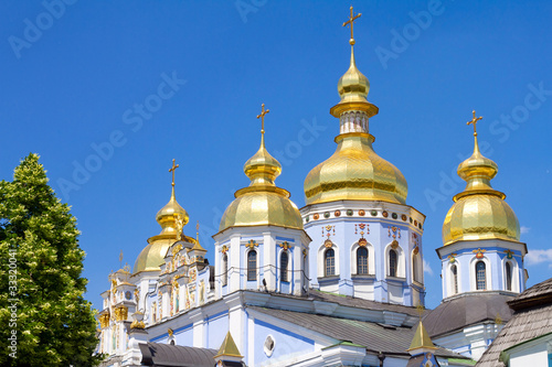Poster Kiev St. Michael's Golden-Domed Monastery in Kiev, Ukraine