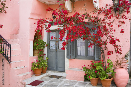 фотография grèce,cyclades,naxos : village d'apiranthos