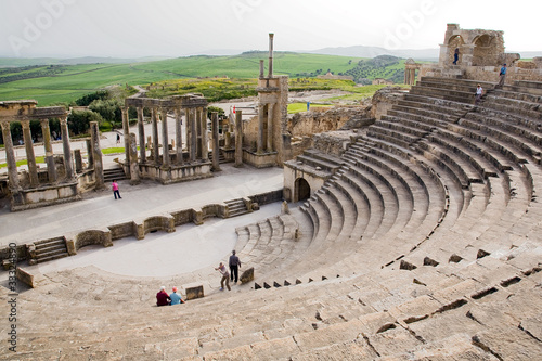 Staande foto Tunesië dougga, theatre, tunisia