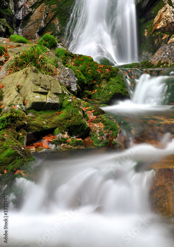 Waterfall in the national park Sumava-Czech Republic - 33329470