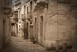Fototapeta Uliczki - Retro photo of old narrow  street